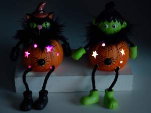 Grossisti decori Halloween zucca e luce led