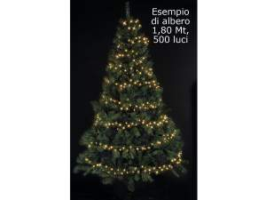 Ingrosso luminarie Natale 500 luci led cavo verde