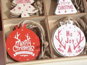 Wholesale Xmas wooden decorations