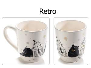 Wholesale ceramic mug cat design