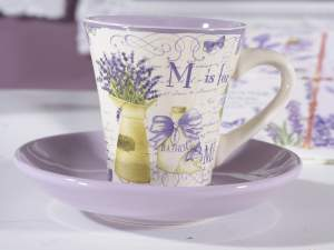 Wholesale coffee cup lavender decor