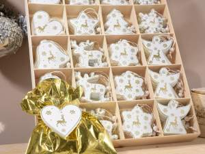 Wholesale of wooden Xmas decorations