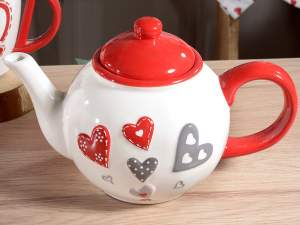Wholesale teapot ceramic decor hearts