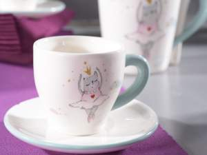 Wholesaler ceramic coffee cup dancer design
