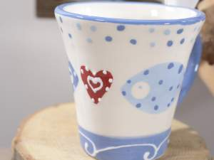 Wholesaler coffee cup ceramic sea decor