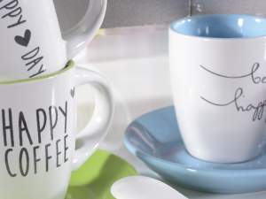 Wholesaler coffeecups ceramic colored