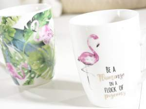 Wholesaler of ceramic mug flamingo design