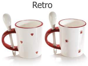 Wholesalers mugs ceramic decoration in love