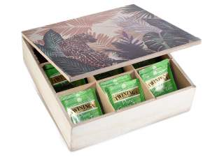 Wholesalers tea box wood jungle decorations