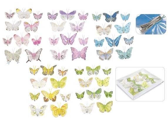 10 butterfly hand painted with clip