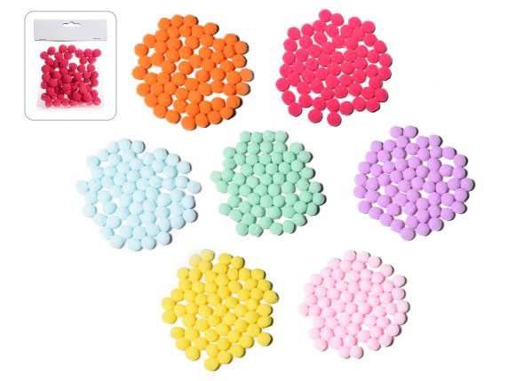 60 decorative colored pompon little balls package in cloth