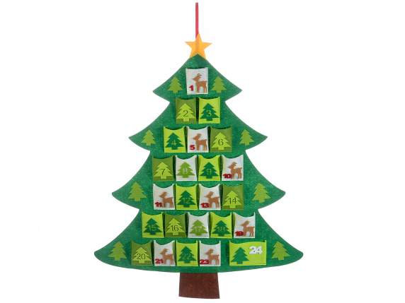 Advent calendar tree shaped