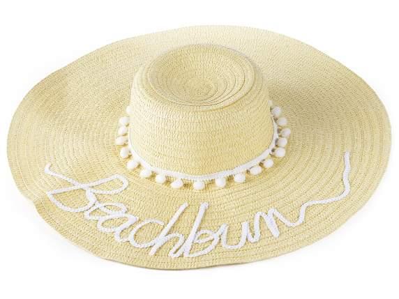 Sombrero de paja para playa Beachbum (12.13.40) - Art From Italy 02c2a93af1e