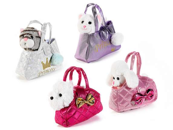 Animaletto di peluche in borsetta Luxury