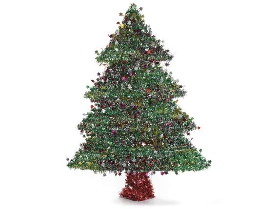 Artificial Xmas trees decorative with stars
