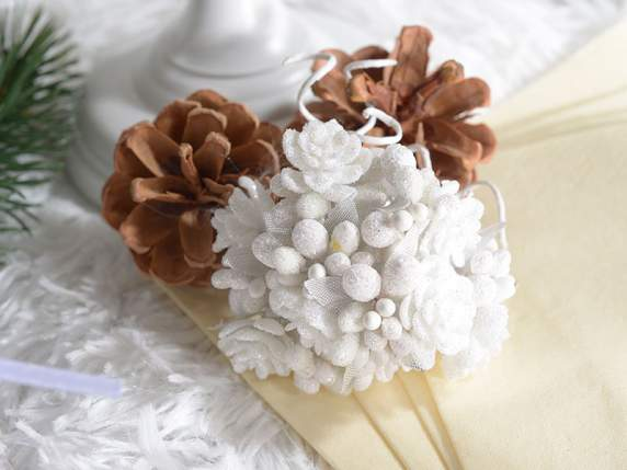 White berries flowers w-glitter