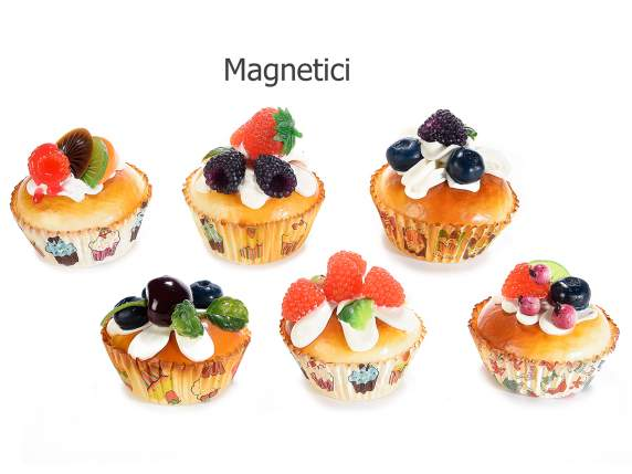 Artificial fruit cupcake with magnet