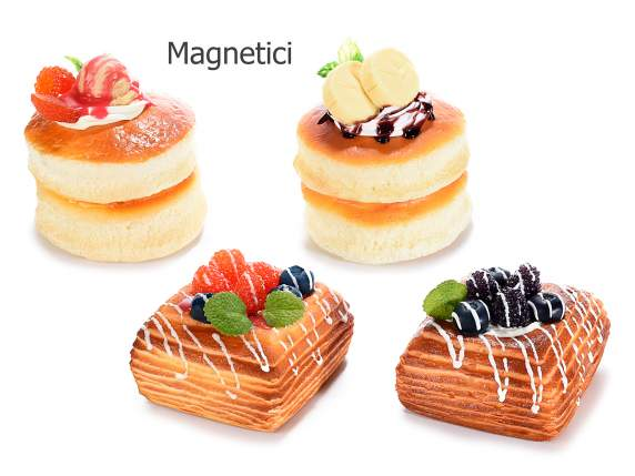 Artificial fruit pancake with magnet
