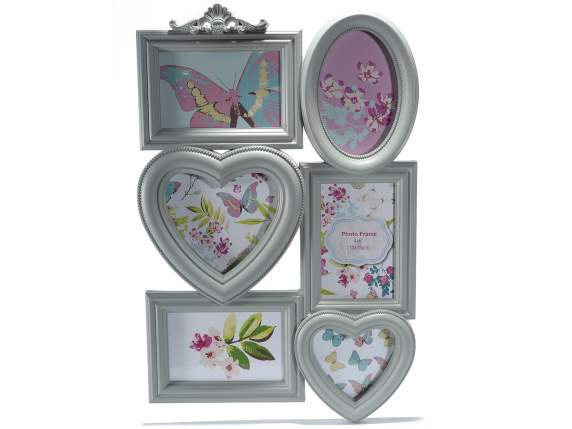 Multiple photo frames in artificial resin to hang