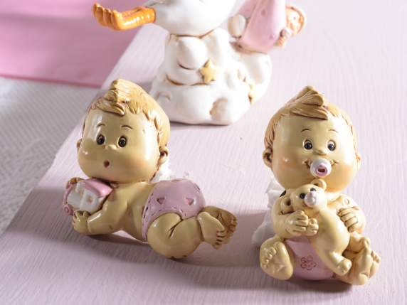 Baby girl polyresin fridge magnet