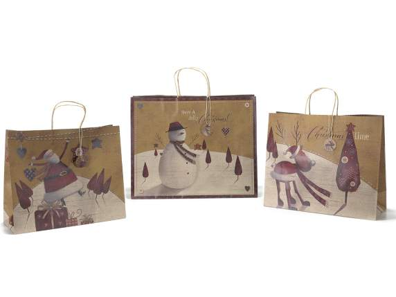 Christmas maxi paper bag w-greeting card