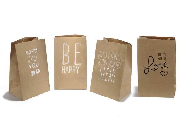 Kraft bag w-Writing print