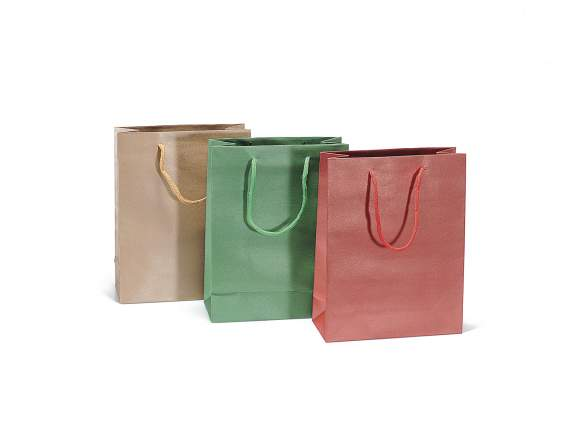 Medium bag in colored paper
