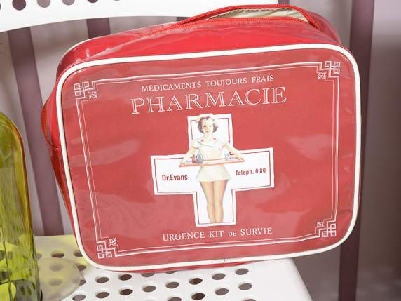 Waterproof Pharmacy bag w-vintage printing