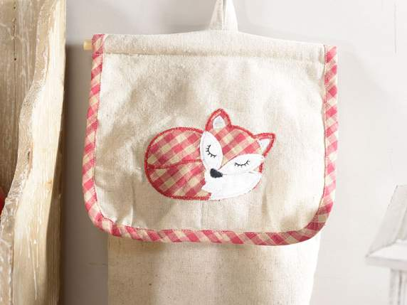 Cloth bags holders w-fox decorations