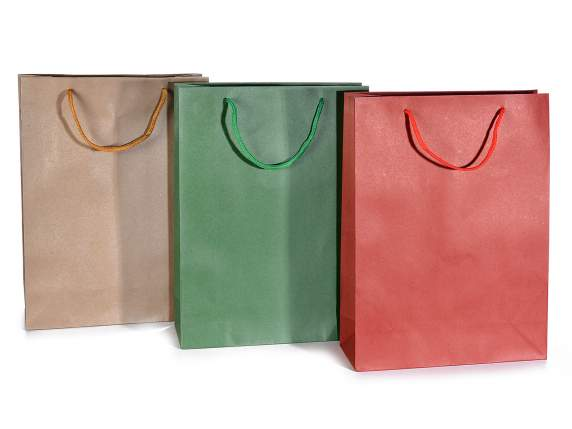 Colored gift bags in paper