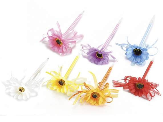 Sunflower shaped ballpoint pens w-bow