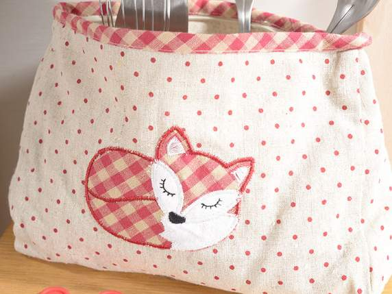 Cloth beauty case w-fox decorative