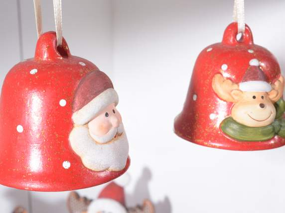Ceramic bell with Christmas subject