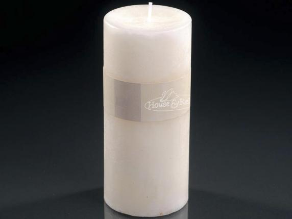 Big candle 6,7x14cm ivory color - burning time 70 hours