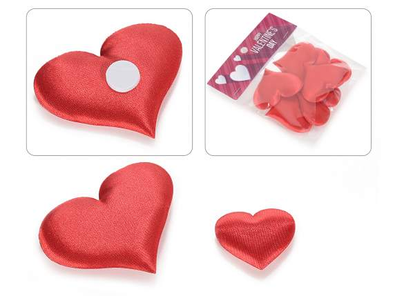 Blister fabric hearts with biadhesive