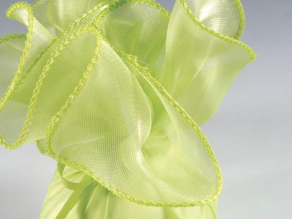 Tul bordado de organza indian silk 25 x 25 cm verde