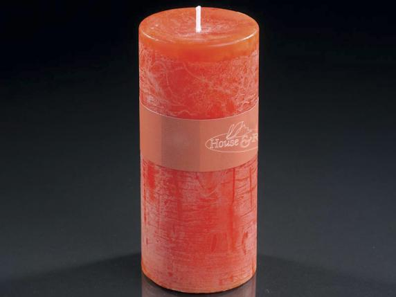 Grande bougie flamme orange