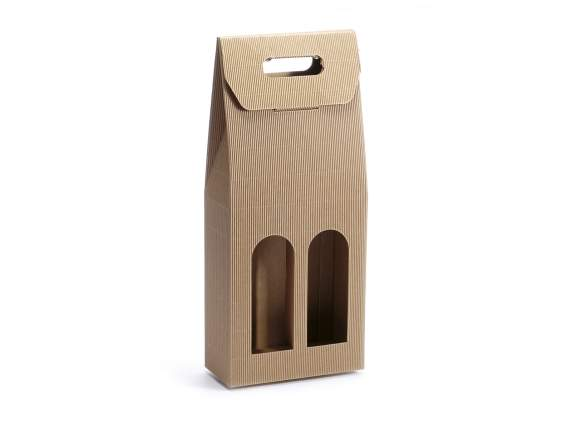 Paper box for 2 bottles