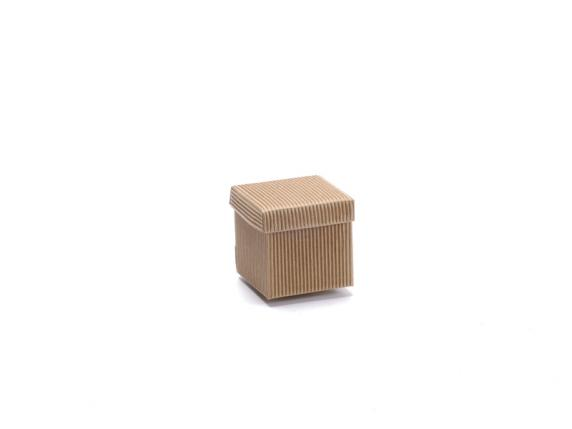 Natural paper box with lid