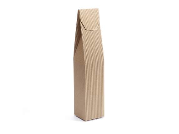 Natural paper box for 1 bottle