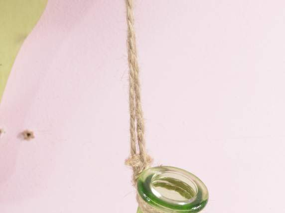 Hanging glass bud vase
