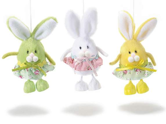 Decorative hanging bunny w-skirt