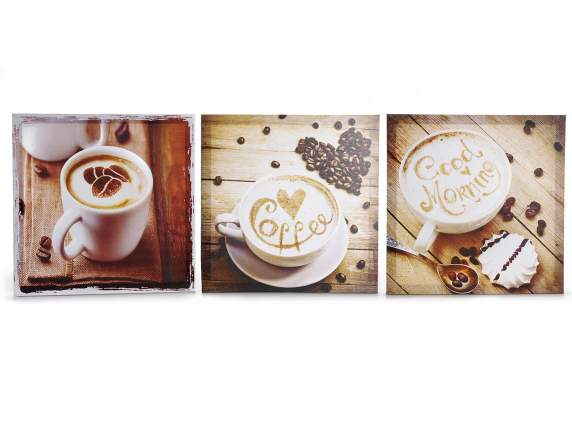 Wall canvas frame w-coffee cup