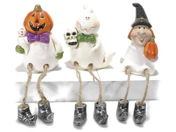 Halloween subjects in ceramic with long legs