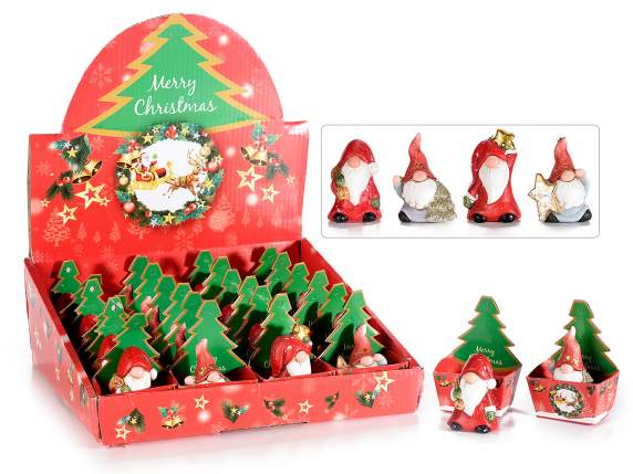 Ceramic Santa Claus in single box in display