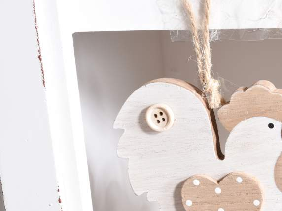 Hanging wooden chime bell chicken shaped