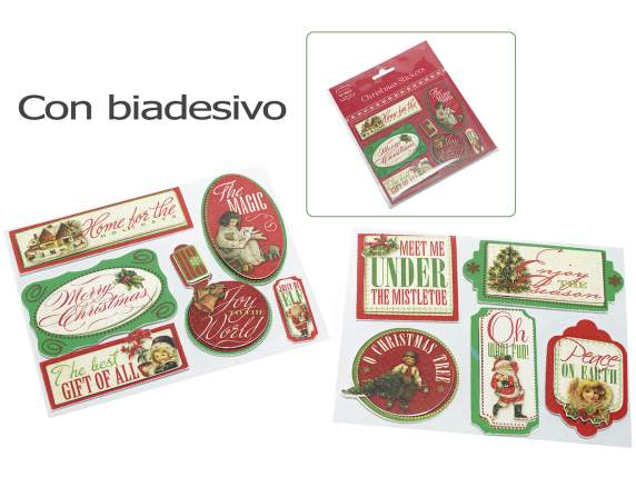 Confection Xmas 3D adhesives in paper