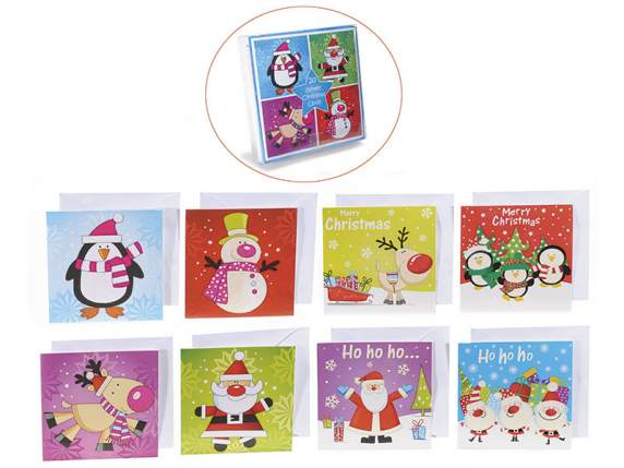 Confection of 20 Christmas cards in paper