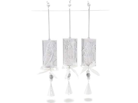 Hanging resin decorations for Christmas