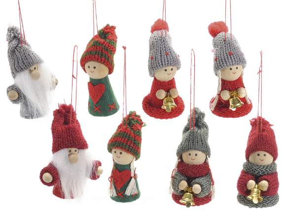 Christmas decorations in fabric to hang